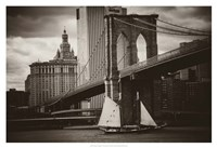 The Sailboat & the Bridge Fine Art Print