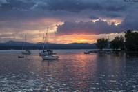 Dusk On Lake Champlain Fine Art Print