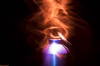 Flaming Bottle 2 Fine Art Print