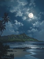 Waikiki Night Sky Framed Print