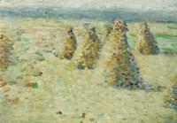 Haystacks In Normandy, 1887-89 Fine Art Print