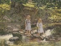 Stepping Stones, 1893 Fine Art Print