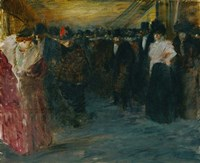 Promenoir At The Music-Hall, c. 1890 Fine Art Print