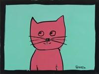 Pink Cat Fine Art Print