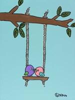 The Lovebirds Fine Art Print