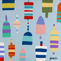 Buoys Blue Fine Art Print