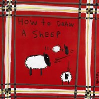 How to Draw A Sheep Fine Art Print