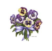 Pansy Bouquet Fine Art Print