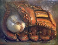 Baseball with Mitt 7 Fine Art Print