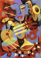 Jazz Player Fine Art Print