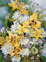 Wild Flowers And Daylilies Fine Art Print
