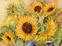 A Cutting of Sunflowers Fine Art Print