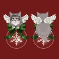 Happy Holidays Cat Back Fine Art Print