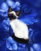 Sapphire Cat Framed Print