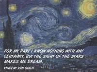 Sight of the Stars - Van Gogh Quote Fine Art Print