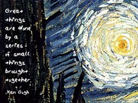 Great Things - Van Gogh Quote 1 Fine Art Print
