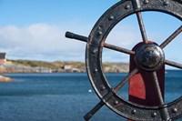 Harbor and Boat Wheel Fine Art Print
