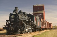 Steam Train and Grain Elevator Fine Art Print