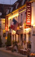 Hotel Bergerand's in Village of Chablis Fine Art Print