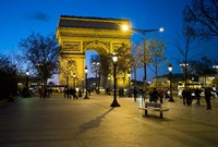 Arch of Triumph, Paris, France Fine Art Print