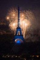 Fireworks at the Eiffel Tower Fine Art Print