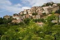 Village of Pieve, Corsica, France Fine Art Print