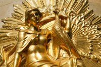 Golden Statuary, Commerz Bank in Leipzig Fine Art Print