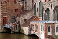 Canals, Bruges, Belgium Fine Art Print