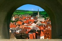 Cityscape of Cesky Krumlov, Czech Republic Fine Art Print