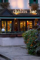 Chablis Bar Cafe, Chablis, Bourgogne, France Fine Art Print