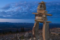 Inukshuk in Ogilvie Mountains Fine Art Print