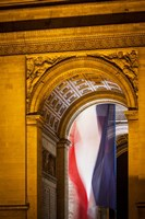 Flag Inside the Arc de Triomphe Fine Art Print
