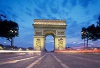 Arc de Triomphe From Champs Elysees, Paris, France Fine Art Print