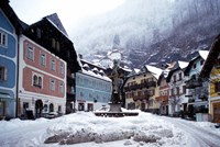 Austria Town Center in Winter Fine Art Print
