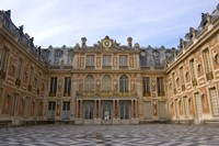 Marble Courtyard, Versailles, France Framed Print