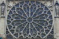 South Rose Window of Notre-Dame, Paris, France Fine Art Print