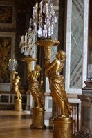 Hall of Mirrors and Gold Statues, Versailles, France Fine Art Print