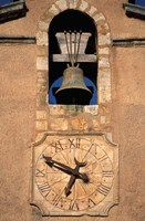 Church Bell and Clock Fine Art Print
