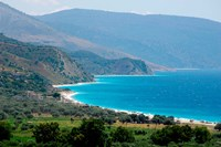 Ionian Sea and Borsh Beach Fine Art Print