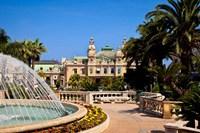 Fountain and Gardens, Monaco Fine Art Print