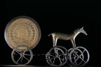 Solar Disk with Chariot and Horse Replica Fine Art Print