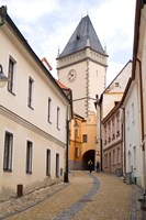 Old Town Buildings in Tabor, Czech Republic Fine Art Print