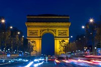 Military Ceremony at the Arc de Triomphe Fine Art Print