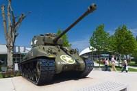 US Sherman tank, Airborne Museum Fine Art Print