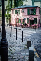 Historic La Maison Rose Cafe in Montmartre Fine Art Print