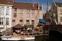 Canal Cafe, Bruges, Belgium Fine Art Print