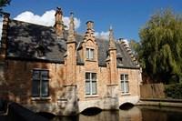 Canal Building, Bruges, Belgium Fine Art Print