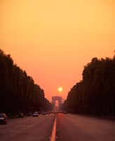 Arc de Triomphe at Sunset, Paris, France Fine Art Print