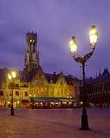 Burg Square, Bruges, Belgium Fine Art Print
