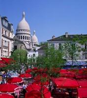 Place Du Tertre, Montmartre, Paris, France Fine Art Print